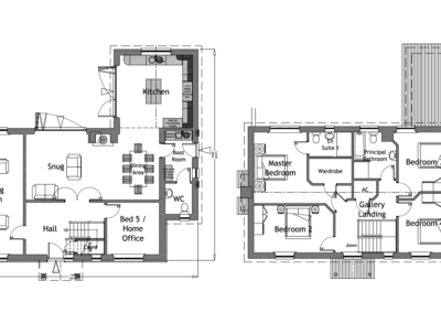 1H LH 2.10 + 2.11 C Plot 1 House Plans A1L PLANNING ISSUE